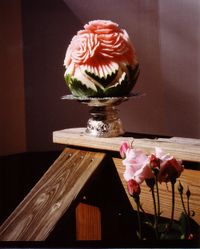 Thai Carving: Watermelon Roses