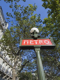 Metro Sign, Paris, France