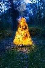 Christmas Tree on Fire